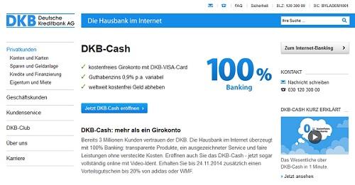 Kostenloses Girokonto Testsieger: DKB Cash