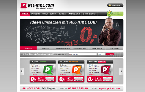Webhoster Testsieger All-Incl.com